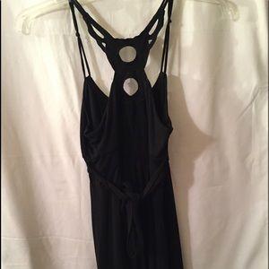Dresses & Skirts - Small Black knit dress, knee length, pretty detail
